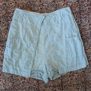 Urban Outfitters Light Blue Pinstripe Shorts Med